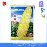 side seal food packing aluminum plastic bag, poly corn seed bag