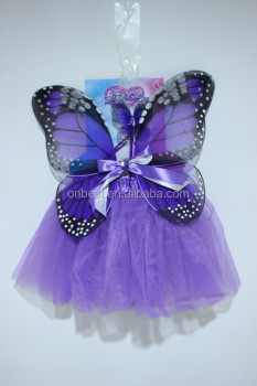 Onbest Girls Butterfly Angel Wings + Tutu Skirt+Wand Halloween Party