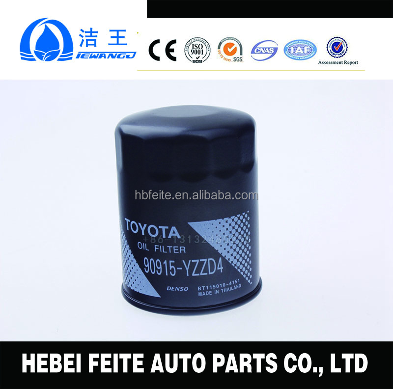 auto car oil filter 90915-YZZD2,90915-YZZD4,90915-YZZE1 FOR Toyota corrola Japanese car