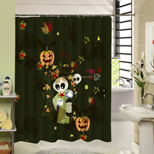 Balloons water transfer printing free stuff Halloween theme custom shower curtain