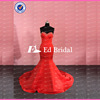 ED Bridal Real Photos Beaded Sweetheart Open Back Bow Sash Mermaid Long Red Evening Dress 2017