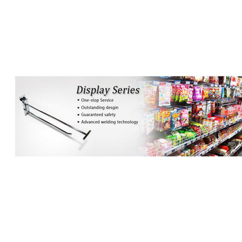 Chrome Metal Display Slatwall Tube Hooks