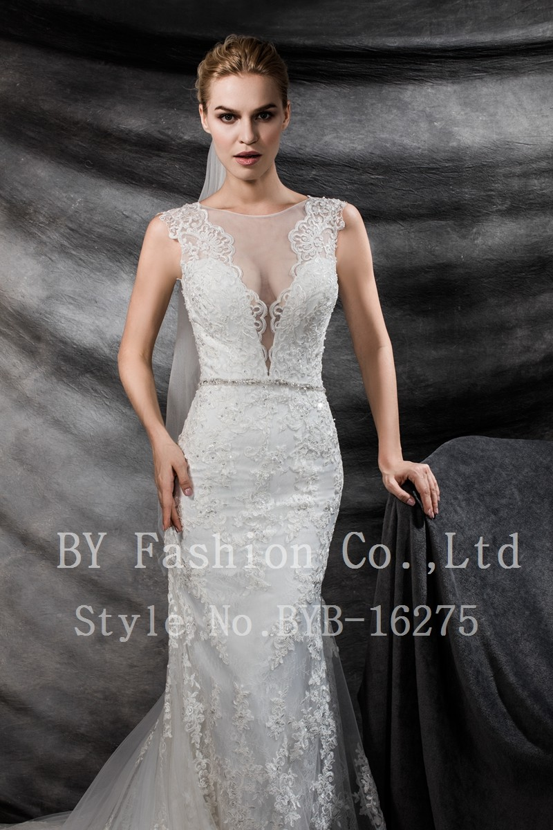 V Line Mermaid Wedding Dress : Line beading alibaba wedding dress lace mermaid bridal gown