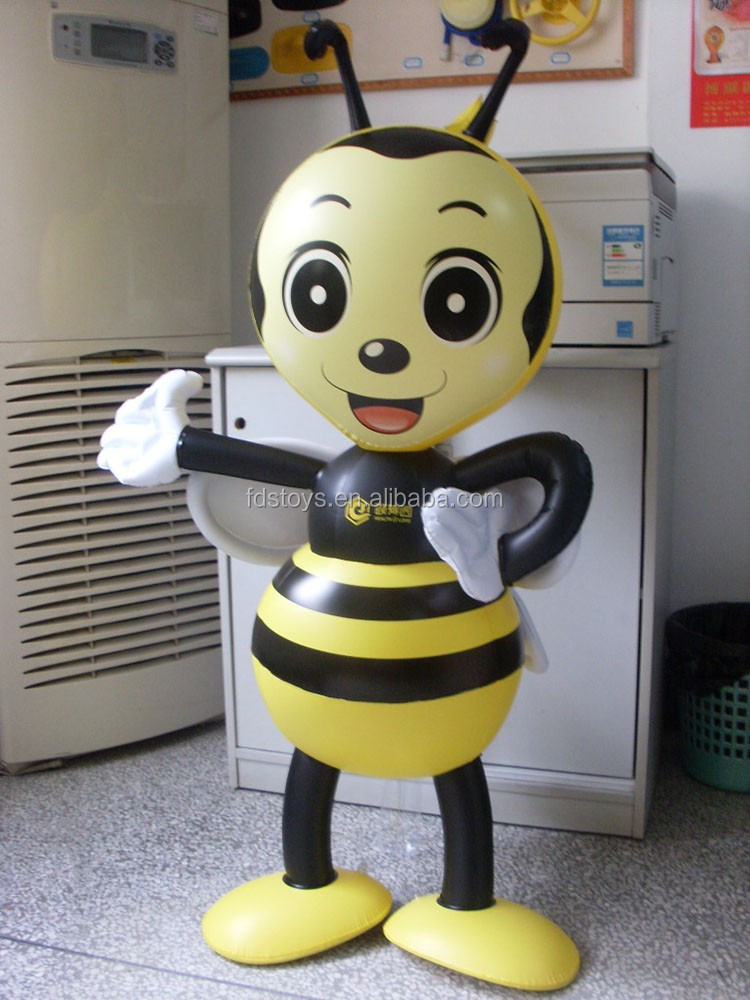 pvc inflatable animal cartoon toys giant inflatable bee