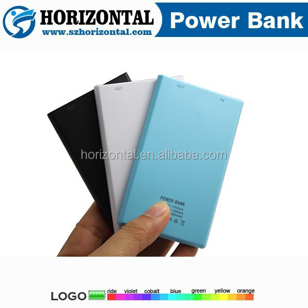 2016 Newest Slim Business Name Card Li polymer Power Bank