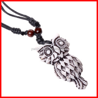 Handmade Fashion Necklace Imitation Jewelry Vintage Cow Bone OWL Necklace Choker Necklace