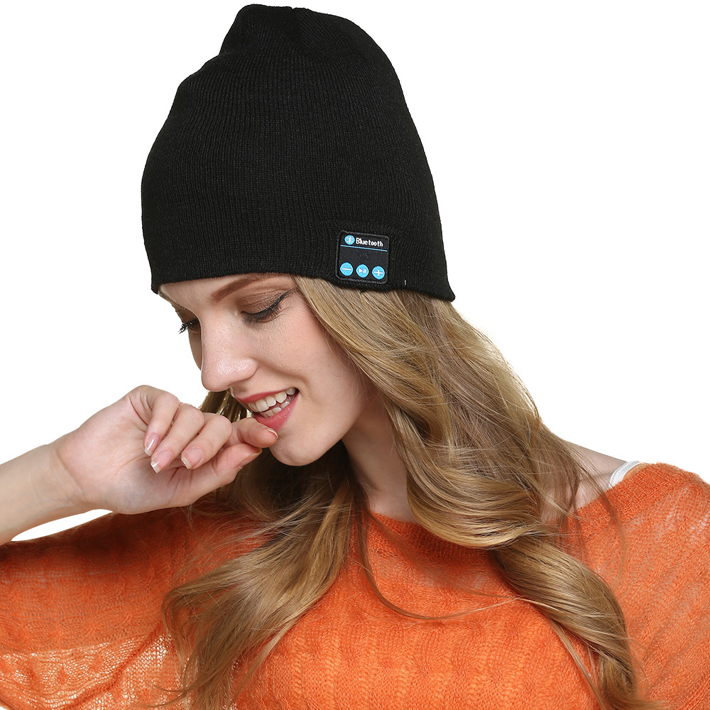 LX-M5 Stereo <strong>Bluetooth</strong> 4.1 Wireless Smart Beanie Headset Musical Knitted Headphone Speaker Hat Speakerphone Cap