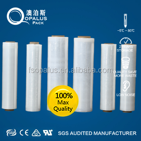 Transparent LLDPE Stretch Film Thick Plastic Sheeting Roll