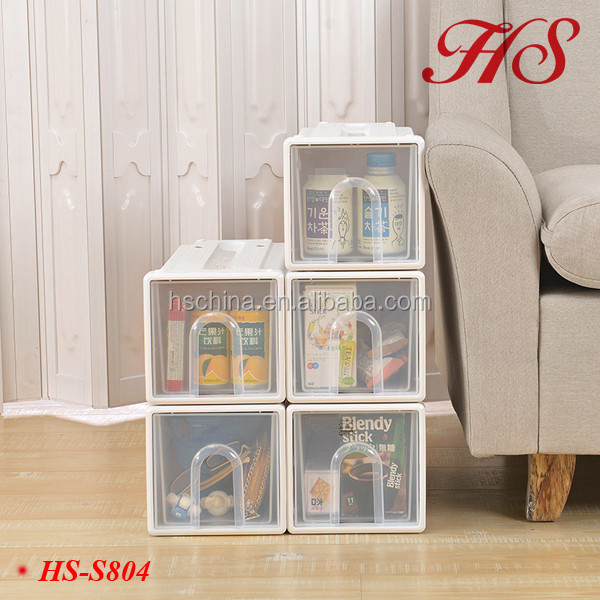 High quality plastic organizer storage assembled cabinet portable