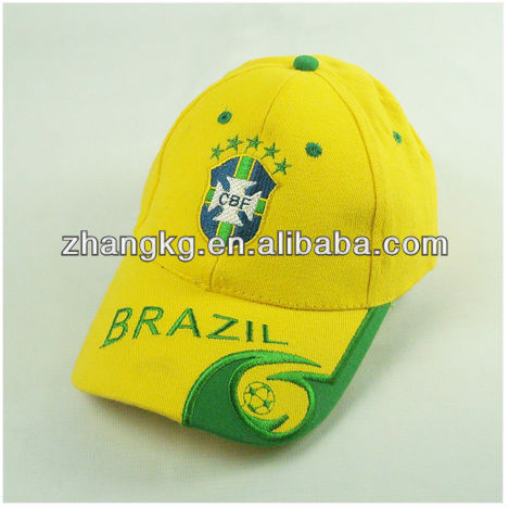 Brazil world cup caps,world cup caps for brasil from china supplier