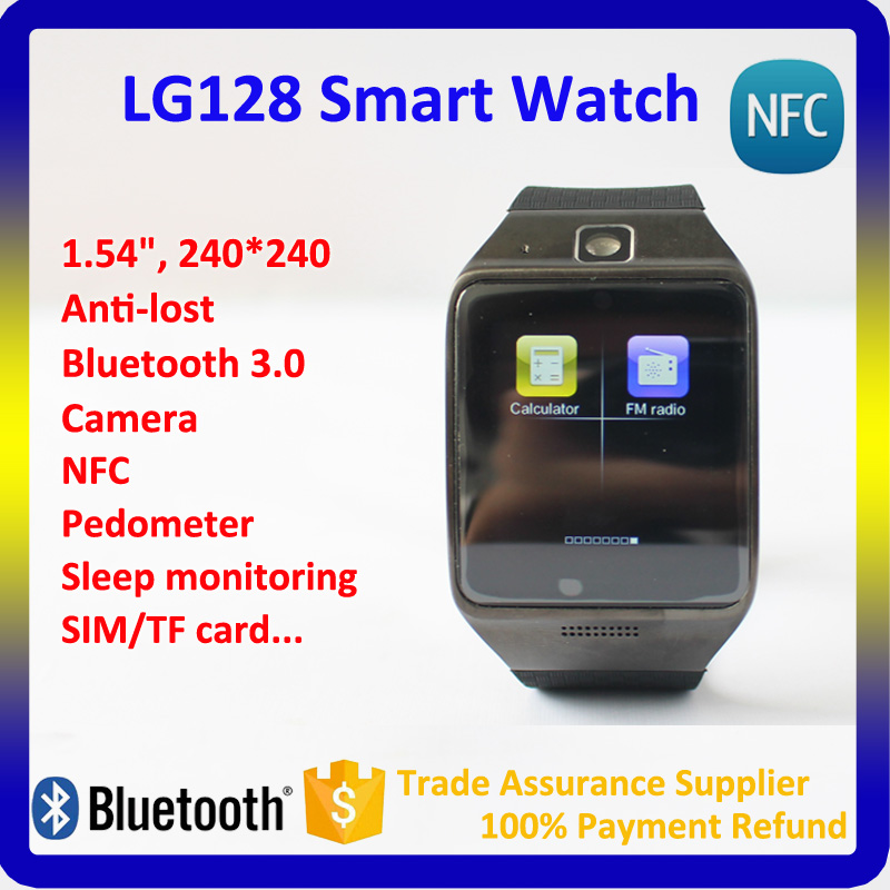 2016 Latest Smart Phone Watch with Camera ,LG128 Wrist Watch Mobile Phone