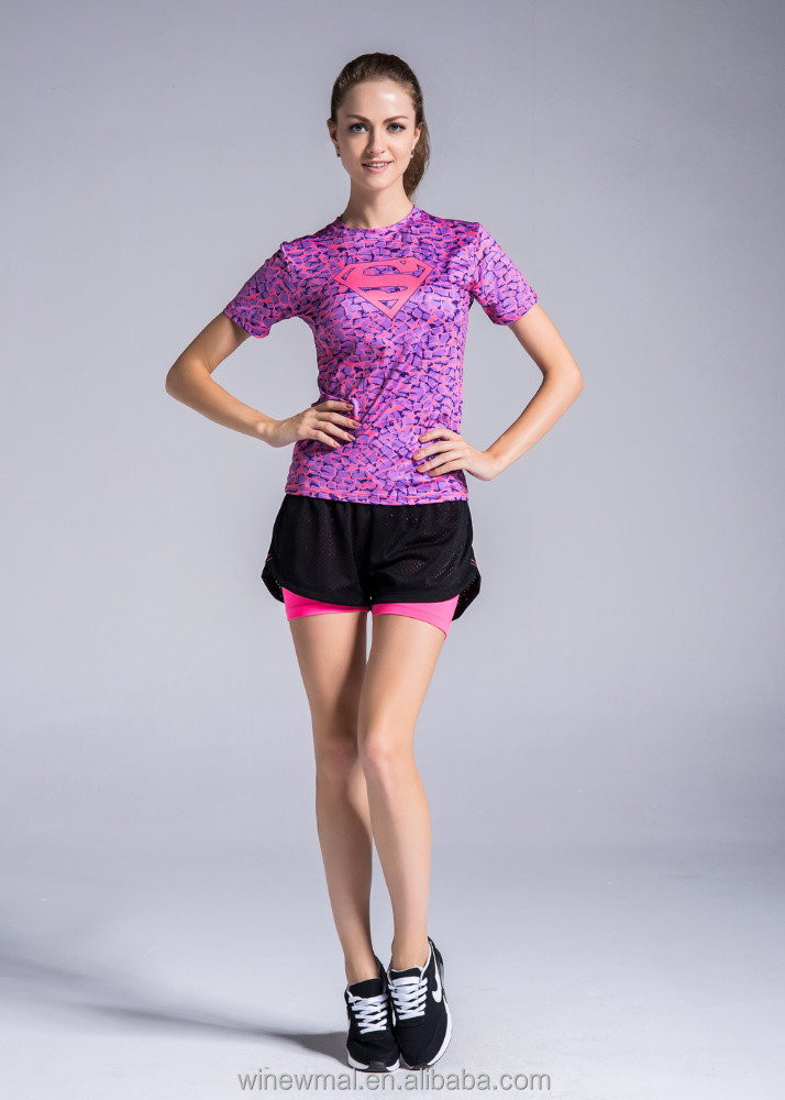 Sport clothing tennis wear gym wear tight flexible clothes digital printing wear fitness wear sport wear