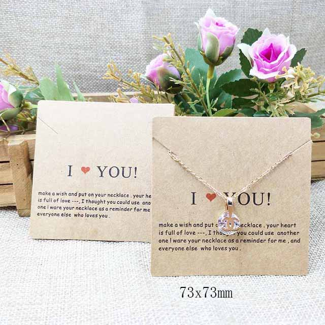 2018-New-White-Kraft-HandMade-Jewerly-Tag-Necklace-Card-Earring-Card-I-Love-You-Display-Jewelry