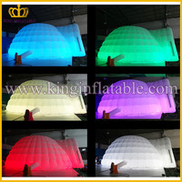 6mDia Hot Sale Lighting Inflatable LED Dome, Inflatable Tent With LED light