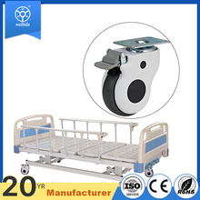 WBD 100mm swivel wheels all plastic medical hospital bed caster