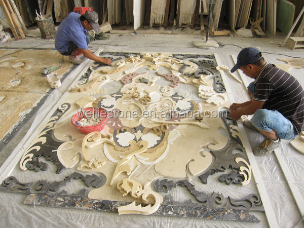 American Style Marble Inlay Flooring DesignCheap Flower
