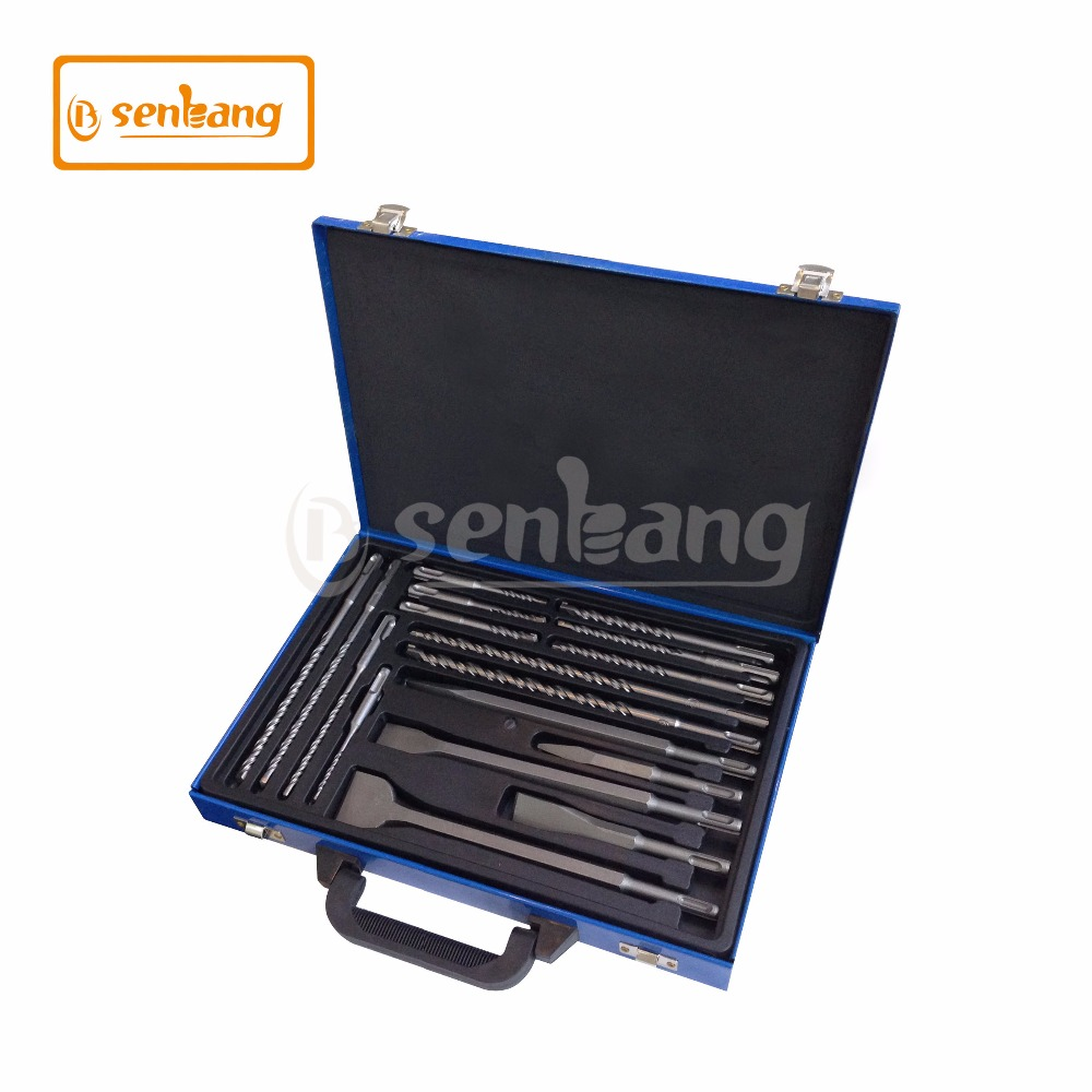 Best selling 17pcs SDS hammer drill and chisel set