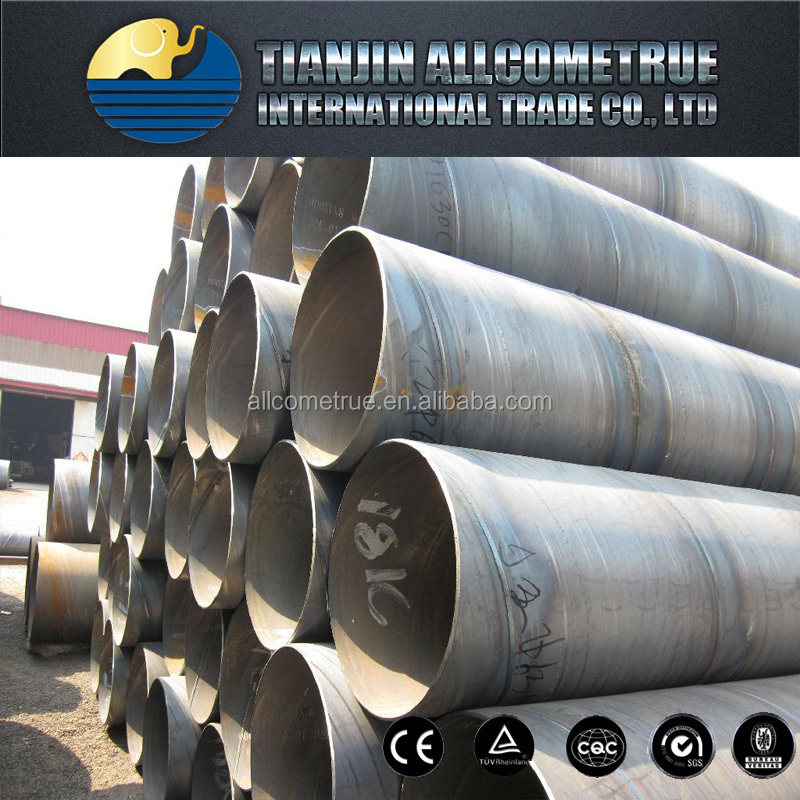 ASTM gas oil transport steel tube with Mild Carbon Spiral Welded Steel Pipe 285