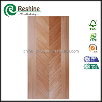 Veneer solid core flush door with fir pine or rubber wood for Solid core flush door price