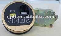 Fingerprint lock with zinc ally lock body steel keypad