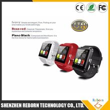 Hot Metal Smartwatch U8 smart watch without SIM card sleep monitor connecter Samsong Android & IOS Phone pK dz09 u8