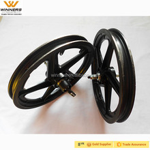 plastic front and rear 16'' bike wheels