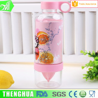 two layers lemon water fruit infuser bottle, fruit fusion water bottle