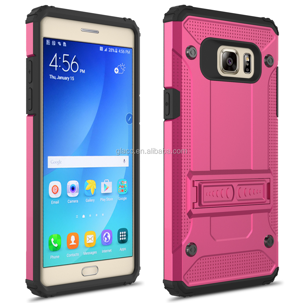 best hot selling cellphone accesorries super shell kickstand case for samsung galaxy note 6
