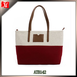 2014 New arrival ladies fancy bags wool felt non woven woman hand bag