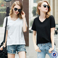 white bamboo cotton blank t-shirt for women