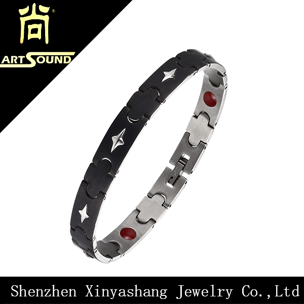 Stardust titanium steel far infrared blood pressure bracelet