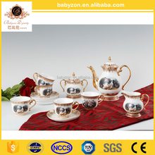 Tea/Coffee serving set, European style flower ceramic coffee cup turkish tea set