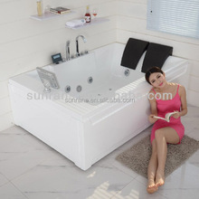 Guangzhou China CE ROHS Apprival Portable Whirlpool Acrylic Massage Bathtub With TV