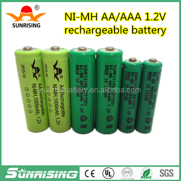 Sunrise NI-MH 1.2V AA/AAA Rechargeable Battery Baterias 14mm*49mm/10mm*44mm