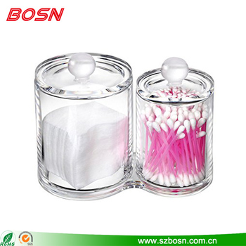 Hot sell clear acrylic multi home decor for cotton swabs organizer