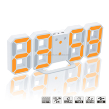 2017 Newest 3D LED Modern Digital Alarm Wall Clock