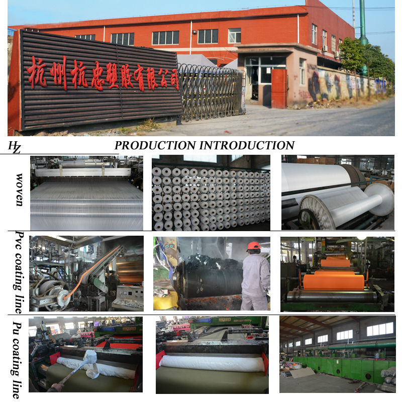 PVC coated fabric from factory hangzhou hangzhong plastic