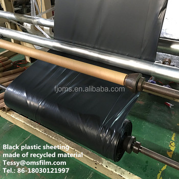 6mil black polyethylene plastic sheeting