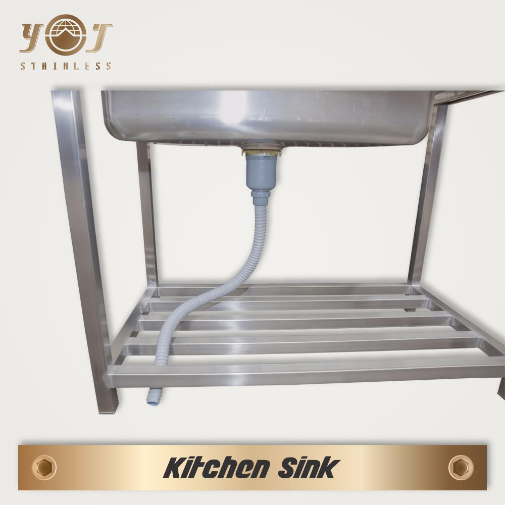 various design pressing drainboard stainless kitchen commercial sink