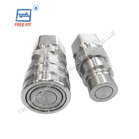 most selling items iso16028 flat face hydraulic quick release couplings