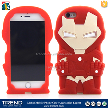 Iron Man silicon mobile phone case for iphone 6 6s