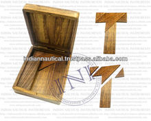 T puzzle wooden toy , Woodcraft puzzle , Make t puzzle