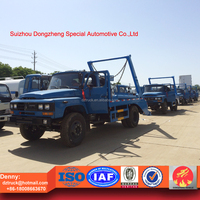Dongfeng skip loader, 8ton swing arm garbage truck