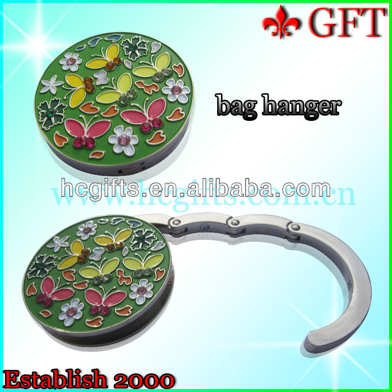 2013 fashion custom shape butterfly bag Hander/ Metal Folding bag hanger/Purse Metal Handbag Hanger