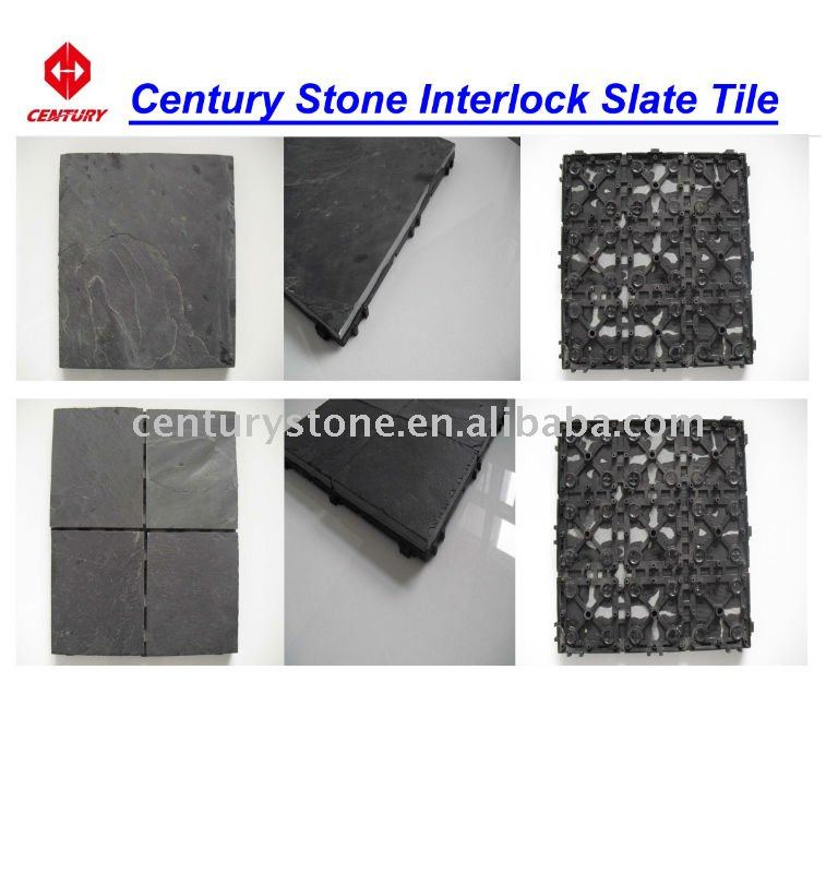 Interlock culture slate tile