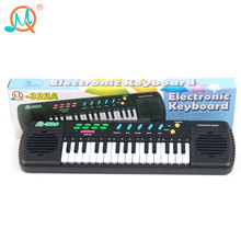 China supplier educational toy musical instrument 31 keys electronic keyboard musical with microphone