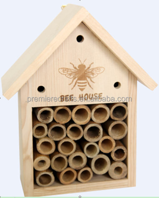 BSCI factory wooden bee house popular in UK