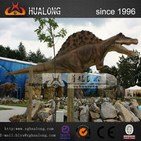 Realistic Life-Size Robotic Dinosaur Theme Models and Artificial Dinosaur Statues