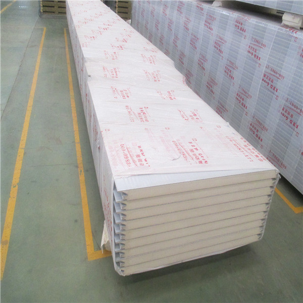 Decorative Corrugated Metal Fireproof PU Factory Partition Wall Panels