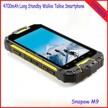 Hot Sale IP68 Snopow M9 MTK6589 Walkie Talkie 4.5 inch Waterproof Android Smartphone